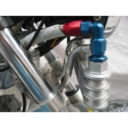 Oil cooler support Booster's Smiley aluminium