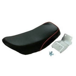 Selle MX noir piping rouge