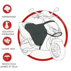 Tablier de protection pilote et selle scooter maxiscooter