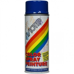 Peinture Motip bleu ultramarin brillant 400ml spray bombe