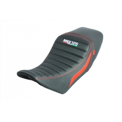 Selle noire ribs carbone look red line pour Honda MSX / Grom 125