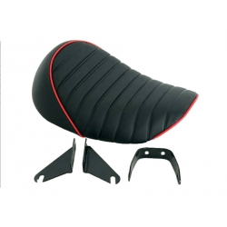 Selle Monkey Kepspeed High back noire piping rouge