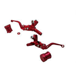 Leviers CNC universels rouge double hydraulique