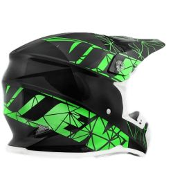 Casque cross NoEnd Origami black/green
