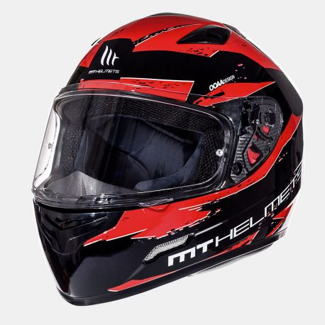 Casque MT Mugello Maker Noir & Rouge