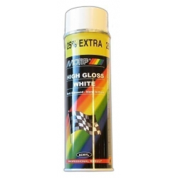 Peinture blanc brillant Motip 500ml bombe spray